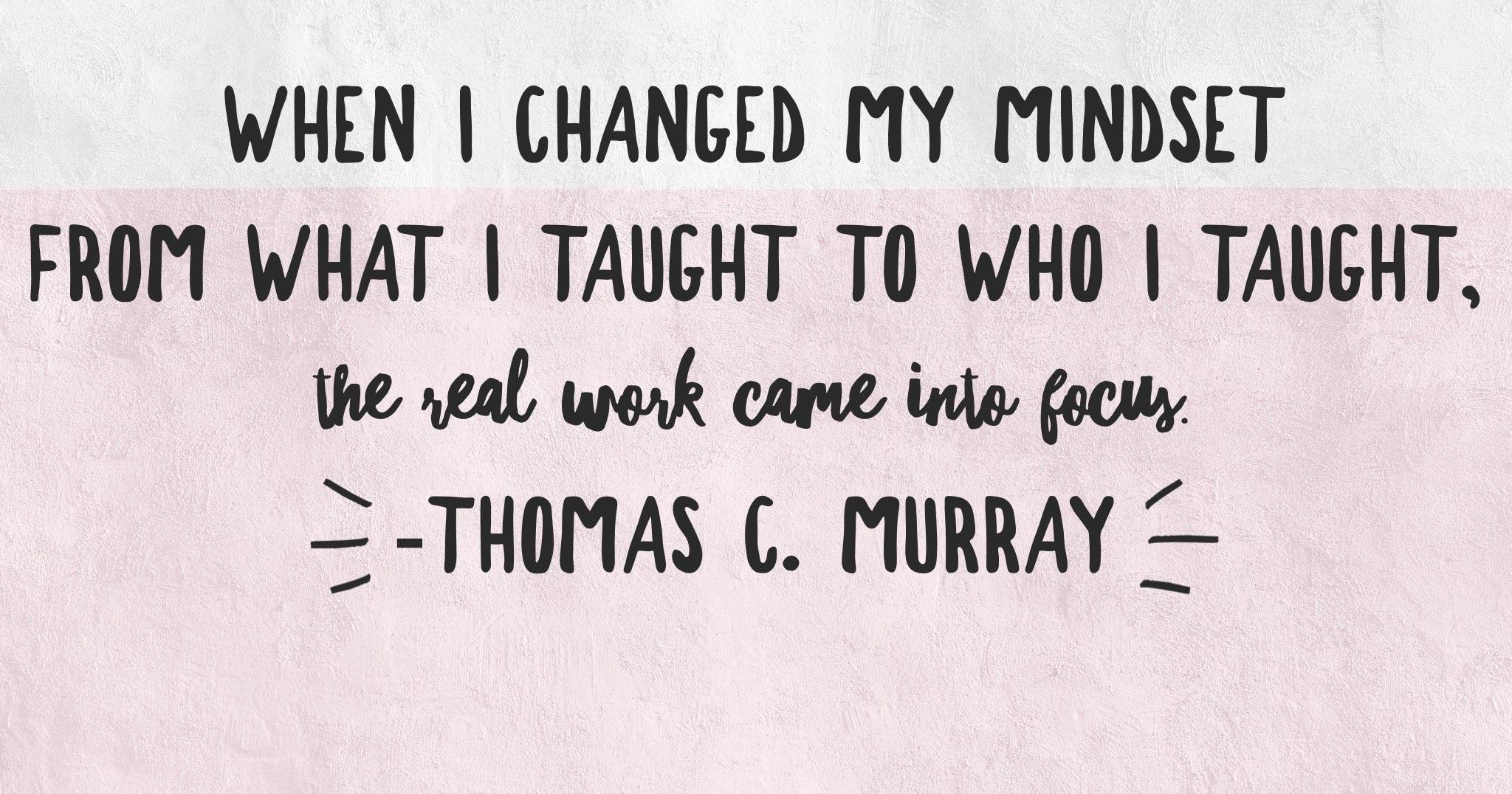 Changing Mindset