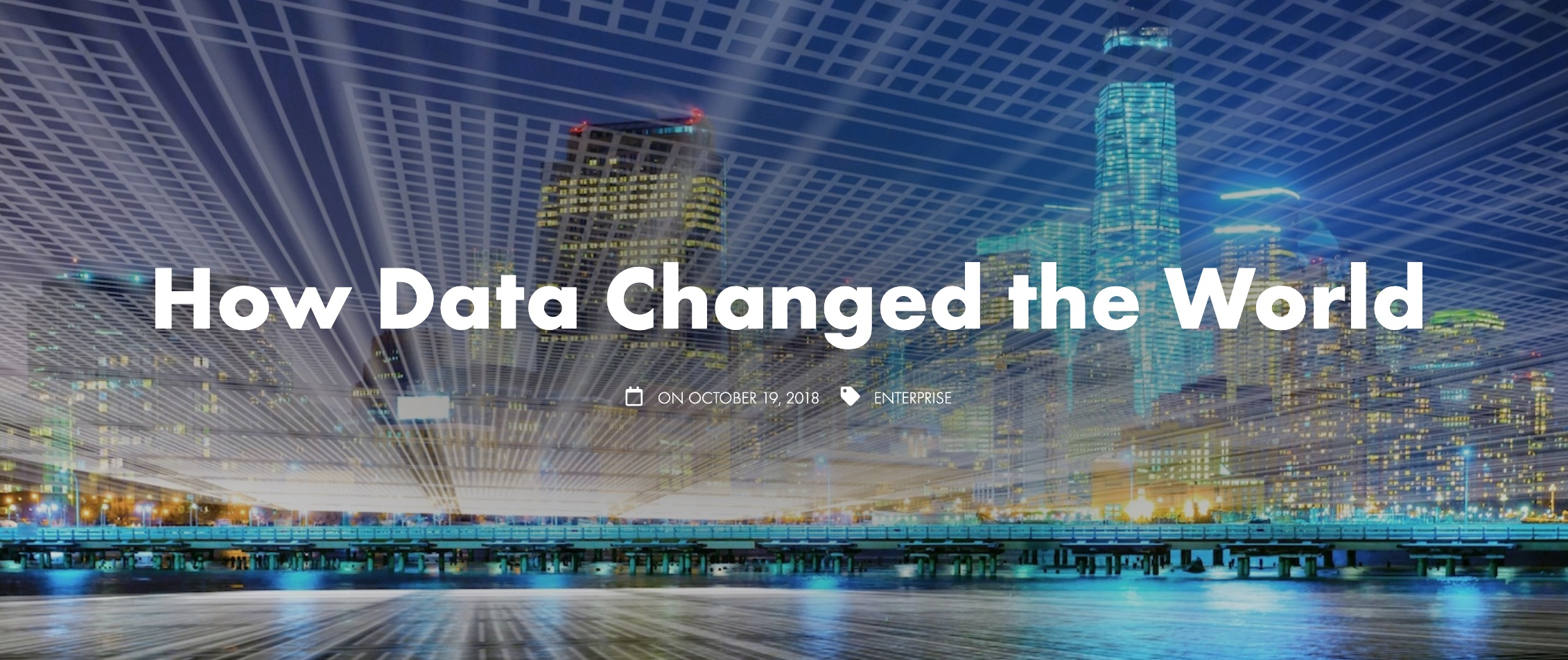 Data Changed the World