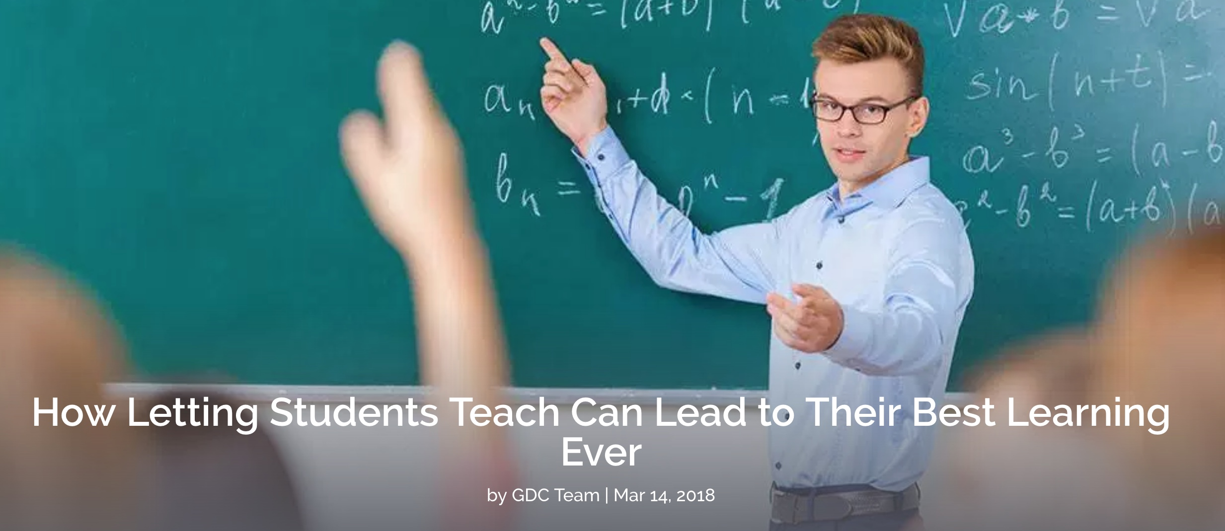 Letting Students Teach