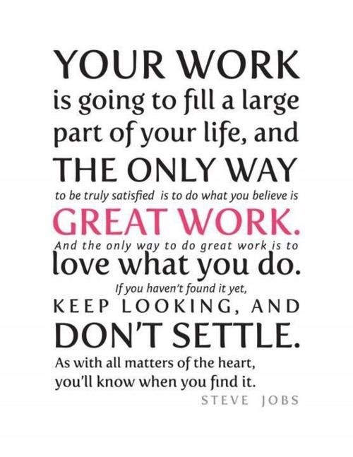 Steve JObs on Work